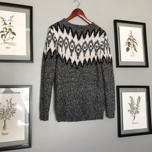 Cabin fever acrylic sweater